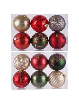 6ct. Assorted Gold, Red & Green Shatterproof Ball Ornaments By Ashland® by Ashland