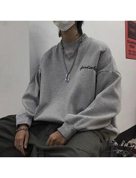 Linsi   Lettering Mock Neck Sweatshirt by Linsi
