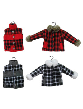 Assorted Plaid Shirt Vest Ornament By Ashland® by Ashland