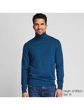 Men Extra Fine Merino Wool Turtleneck Jumper (16) by Uniqlo