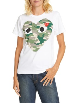 Camouflage Heart Tee by Comme Des GarÇons Play
