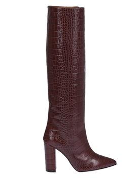Paris Texas Bugundy Crocodile Print Boots by Paris Texas