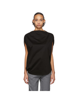 Black Unique T Shirt by Issey Miyake