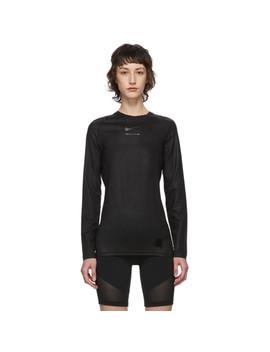 Black Nike Edition Long Sleeve T Shirt by 1017 Alyx 9 Sm