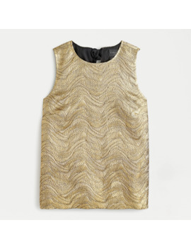 Collection Bow Back Top In Metallic Leaf Jacquard by J.Crew