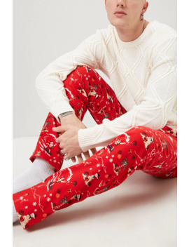 Tropical Christmas Pajama Pants by Forever 21