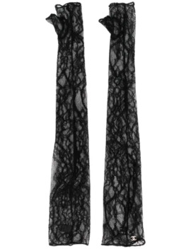 2000's Fingerless Lace Gloves by Chanel Pre Owned