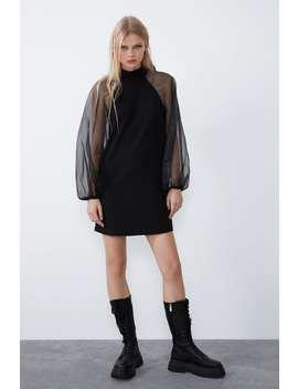 Vestido Combinado Lazo by Zara