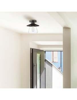 Carbon Loft Keyvani 1 Light Oil Rubbed Bronze Semi Flush Mount Ceiling Light by Carbon Loft