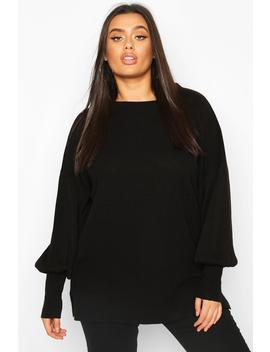 Plus Oversized Balloon Sleeve Jumper by Boohoo