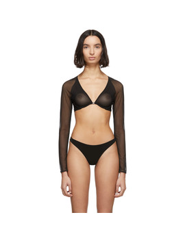 Black Flying Tulle Bra by Wolford