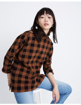 Drop Shoulder Mockneck Top In Buffalo Plaid by Madewell