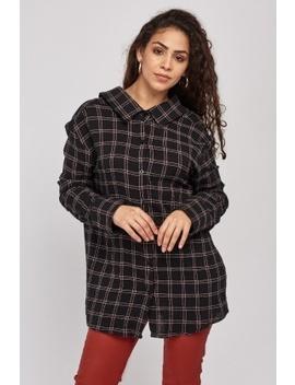 Ruffle Hem Back Button Up Shirt by Everything5 Pounds