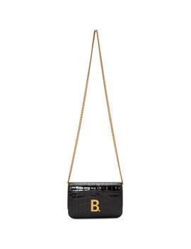Black Croc B. Wallet Chain Bag by Balenciaga