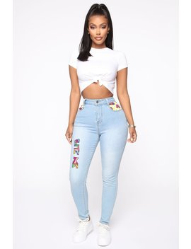 Bite Me Skinny Jeans   Light Blue Wash by Fashion Nova