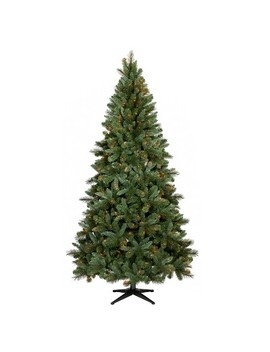 7.5ft Pre Lit Artificial Christmas Tree Douglas Fir Auto Connect Clear Lights   Wondershop™ by Wondershop