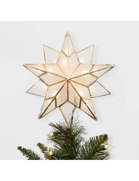 13in Lit Gold Metal And Capiz Star Tree Topper   Wondershop™ by Wondershop