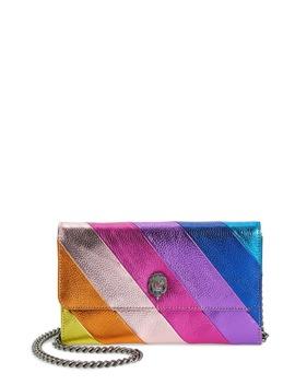 Stripe Leather Chain Wallet by Kurt Geiger London