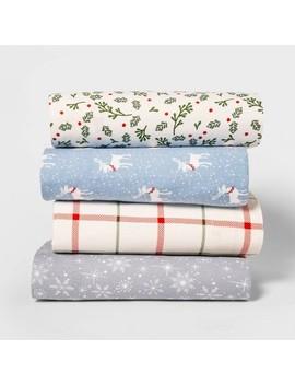 Holiday Print Flannel Sheet Set   Wondershop™ by Wondershop