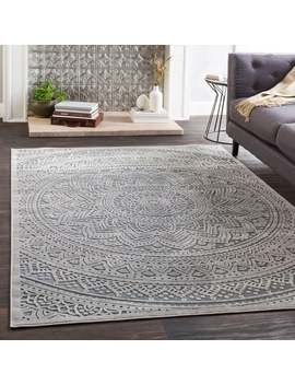 "Aubree Soft Gray Chenille Mandala Area Rug   6'7"" X 9'6\ by Generic"
