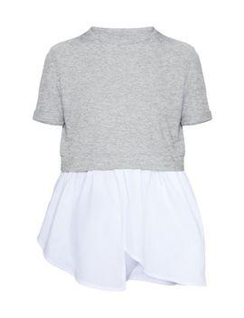 Grey Short Sleeve Peplum Sweater by Prettylittlething