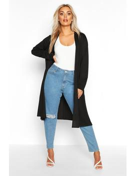 Plus Longline Duster by Boohoo