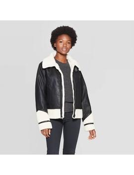 Women's Sherpa Moto Jacket   Universal Thread™ by Universal Thread