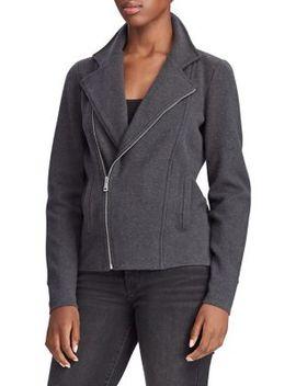 Cotton Blend Moto Jacket by Lauren Ralph Lauren