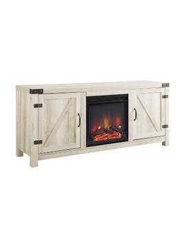 """58"""" Barn Door Fireplace Tv Stand   Saracina Home by Saracina Home"""