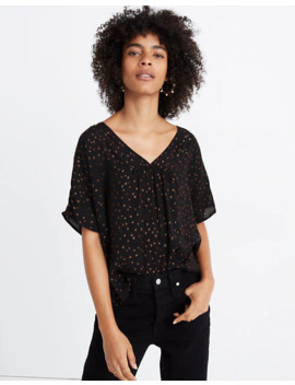 Rhyme Top In Metallic Dot by Madewell