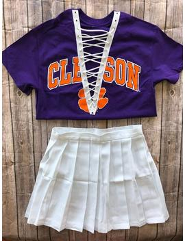 Clemson Lace Up Tee / Graduation Gift / Clemson Tigers / Tailgate Clothing / Game Day Clothes / Football Game Shirt / Clemson Gift by Etsy