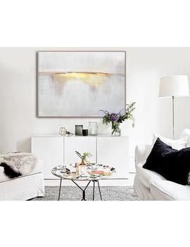 Sunrise Landscape Painting,Large Abstract Painting On Canvas,Beige Painting Gold Painting Abstract Painting,Ocean Art,Extra Large Wall Art by Etsy