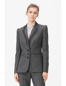 Tailored Herringbone Blazer by Rebecca Taylor
