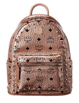 Mcm Stark Mini Outline Studded Metallic Visetos Backpack by Mcm