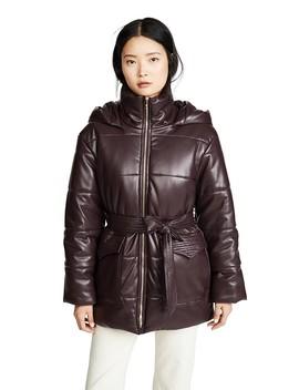Lenox Puffer Jacket With Belt by Nanushka