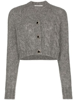 Jewel Button Cropped Cardigan by Alessandra Rich