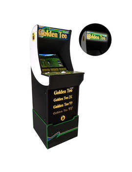 Golden Tee Arcade Machine With Riser And Lighted Marquee, 4ft, Arcade1 Up by Arcade1 Up
