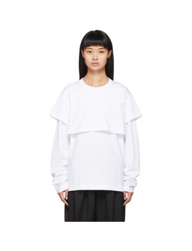 White Double Layer Long Sleeve T Shirt by Comme Des GarÇons Shirt