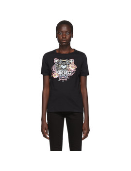 Black Flower Tiger T Shirt by Kenzo