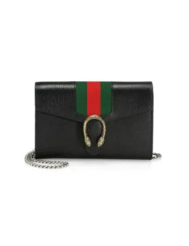 Dionysus Web Leather Shoulder Bag by Gucci