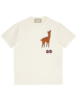 Deer Patch T Shirt by Gucci