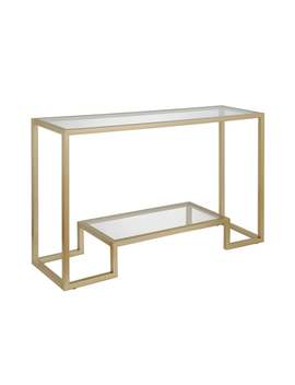 Silver Orchid Spira Gold Geometric Console Table   Gold by Silver Orchid