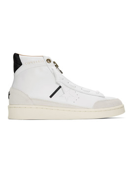 White Ibn Jasper Edition Pro Leather Mid Sneakers by Converse