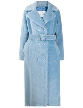 Double Breasted Belted Coat by Stand Studio