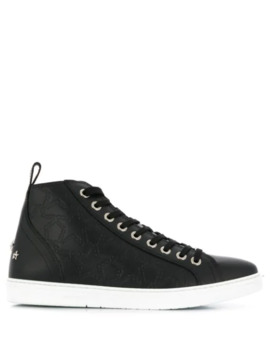 Embroidered Stars Hi Top Sneakers by Jimmy Choo