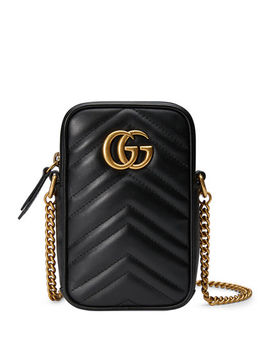 Gg Marmont Mini Leather Crossbody Bag by Gucci