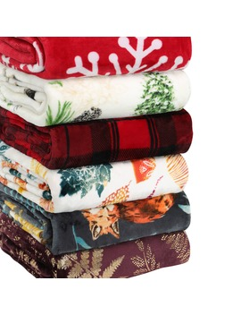 "Better Homes & Gardens Oversized Velvet Plush Throw Blanket, 50"" X 70"", ""Let It Snow"" Sentiment by Better Homes & Gardens"