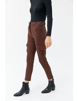Uo Elaine Checkered Skinny Cargo Pant by Urban Outfitters