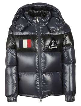 Moncler Gary Buttoned Hood Padded Jacket by Moncler