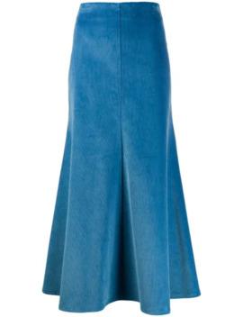 Corduroy A Line Skirt by A.W.A.K.E. Mode